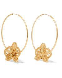 Mallarino - Orquídea Gold Vermeil Hoop Earrings - Lyst