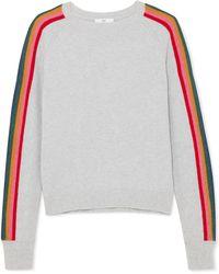 Allude - Striped Merino Wool-blend Jumper - Lyst