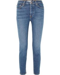 RE/DONE - Originals High-rise Ankle Crop Stretch Skinny Jeans - Lyst