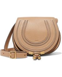 Chloé - Marcie Mini Textured-leather Shoulder Bag - Lyst