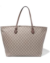 Gucci - Ophidia East West Leather-trimmed Printed Coated-canvas Tote - Lyst