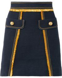 Peter Pilotto - Fringed Cotton-blend Mini Skirt - Lyst