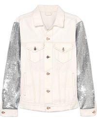 IRO - Nanopo Sequined Jersey And Denim Jacket - Lyst