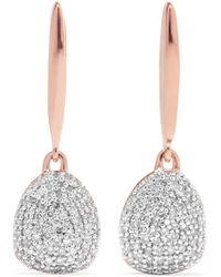 Monica Vinader - Nura Rose Gold Vermeil Diamond Earrings Rose Gold One Size - Lyst