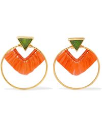 Katerina Makriyianni - Fringed Gold Vermeil Crystal Earrings - Lyst
