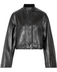 3.1 Phillip Lim - Cropped Leather Jacket - Lyst