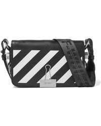 Off-White c/o Virgil Abloh - Mini Striped Textured-leather Shoulder Bag - Lyst