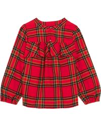 J.Crew | Gelder Ruffled Tartan Cotton-flannel Shirt | Lyst