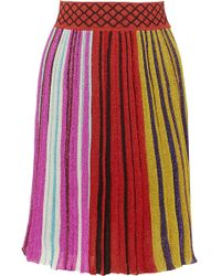 Missoni - Pleated Metallic Stretch-knit Skirt - Lyst