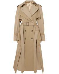 Alexander McQueen - Cotton-gabardine Trench Coat - Lyst