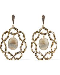Loree Rodkin - 18-karat Gold, Sapphire And Diamond Earrings - Lyst