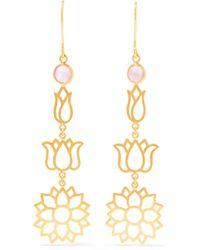 Pippa Small   18-karat Gold Tourmaline Earrings   Lyst