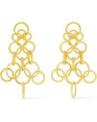 Buccellati - Hawaii 18-karat Gold Earrings - Lyst