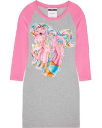 Moschino - + My Little Pony Printed Stretch-cotton Jersey Mini Dress - Lyst