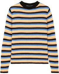 The Elder Statesman - Striped Cashmere Jumper - Lyst