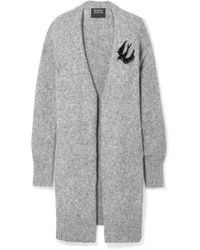 Markus Lupfer - Roisin Oversized Embellished Knitted Cardigan - Lyst