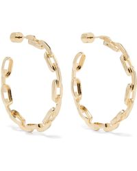 Jennifer Fisher - Baby Chain Link Gold-plated Earrings Gold One Size - Lyst