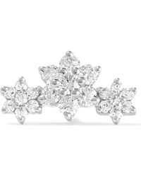 Maria Tash - Flower Garland 18-karat White Gold Diamond Earring - Lyst