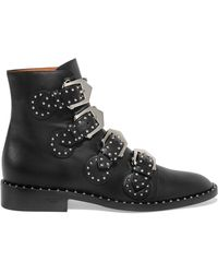 Givenchy - Boots Be08143 Leather Black Silver Rivets - Lyst