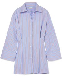 Totême  - Striped Cotton-poplin Shirt - Lyst