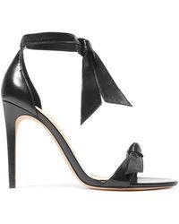 Alexandre Birman - Clarita Bow-embellished Leather Sandals - Lyst