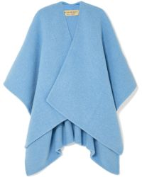 Burberry - Embroidered Knitted Poncho - Lyst