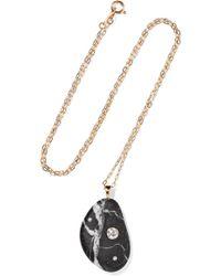 Cvc Stones | Farsi 18-karat Gold, Stone And Diamond Necklace | Lyst
