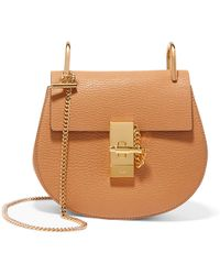 Chloé - Drew Mini Textured-leather Shoulder Bag - Lyst