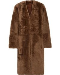 Vince - Reversible Shearling And Nubuck Coat - Lyst