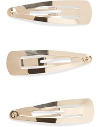 LELET NY - Set Of Three Gold-plated Hair Clips - Lyst