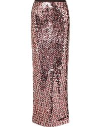 McQ - Sequined Tulle Maxi Skirt - Lyst