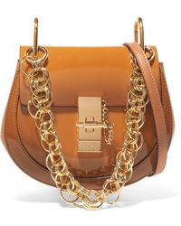 Chloé - Drew Bijou Mini Glossed-leather Shoulder Bag - Lyst