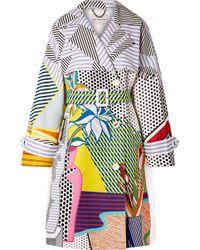 Mary Katrantzou - Printed Cotton-blend Gabardine Trench Coat - Lyst