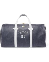 Paravel - Main Line Duffel Leather-trimmed Printed Canvas Weekend Bag - Lyst