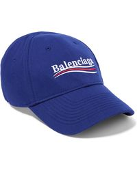 Balenciaga - Embroidered Cotton-twill Baseball Cap - Lyst