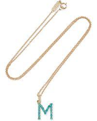Jennifer Meyer - Letter 18-karat Gold Diamond Necklace Gold Y - Lyst