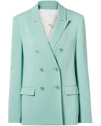 Tibi - Steward Oversized Double-breasted Stretch-crepe Blazer - Lyst