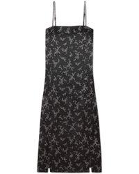 Equipment - Kelby Floral-print Silk-satin Dress - Lyst