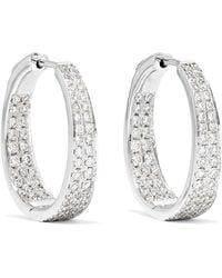 Anita Ko - Meryl 18-karat White Gold Diamond Hoop Earrings - Lyst