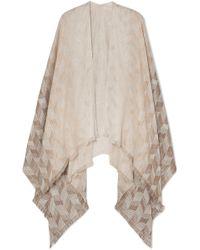 Missoni - Frayed Metallic Cotton-blend Wrap - Lyst