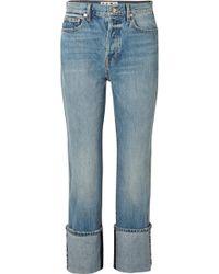Proenza Schouler - Pswl High-rise Straight-leg Jeans - Lyst