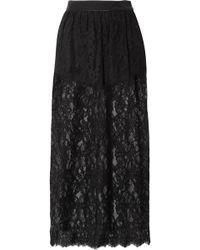 Fleur du Mal - Cotton-blend Lace Midi Skirt - Lyst