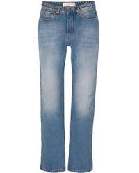 Victoria, Victoria Beckham - Arizona Jeans Mit Geradem Bein In Distressed-optik - Lyst