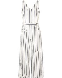 1ace6000cb6e Madewell - Striped Cotton And Linen-blend Jumpsuit - Lyst