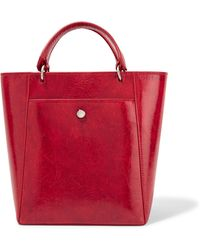 Elizabeth and James - Eloise Small Patent Textured-leather Tote - Lyst