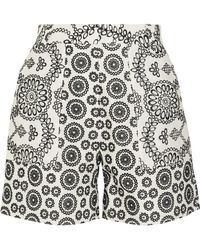 Topshop Unique - Cleary Broderie Anglaise Cotton Shorts - Lyst
