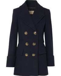 Burberry - Double-breasted Wool-felt Coat - Lyst