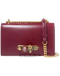 Alexander McQueen - Jewelled Satchel Embellished Leather Shoulder Bag - Lyst