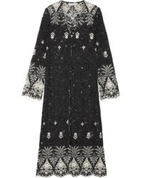 Alice + Olivia - Stara Embroidered Cotton-blend Corded Lace Kaftan - Lyst
