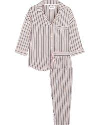 DKNY - Modern Attitude Striped Stretch-modal Jersey Pyjama Set - Lyst